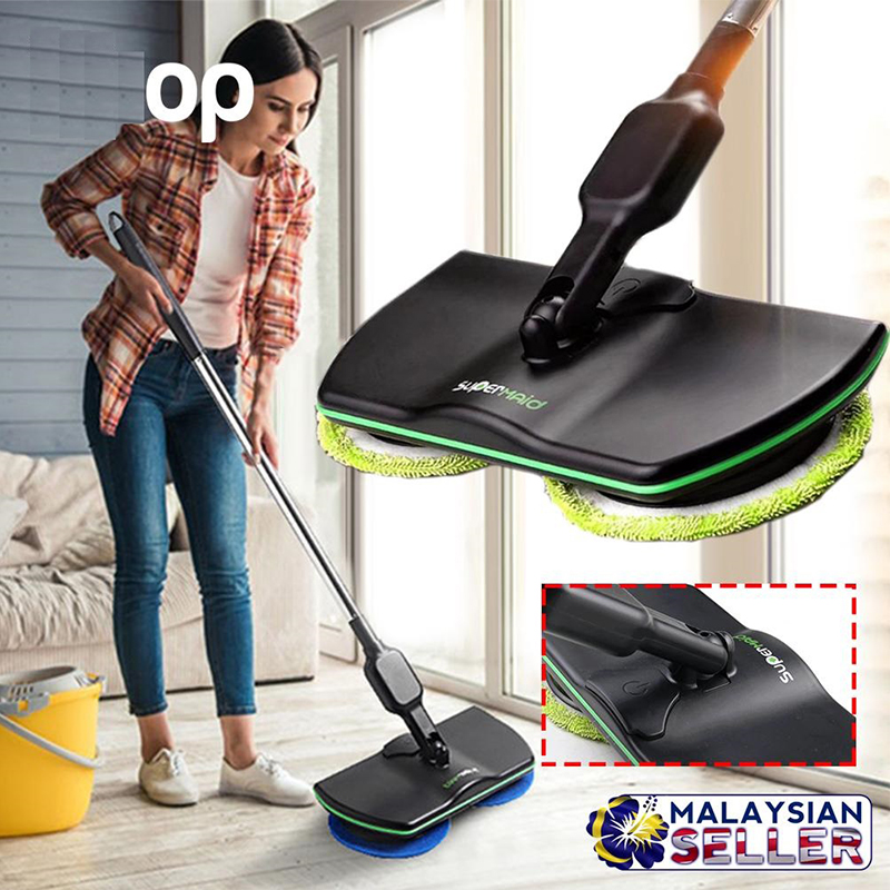 Безкабелна електрическа подочистачка SUPERMAID за почистване и полиране на гладки настилки