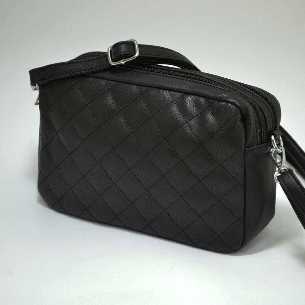 РАЗПРОДАЖБА: дамска чанта- клъч с презрамка DBZ 263 BLACK, еко кожа