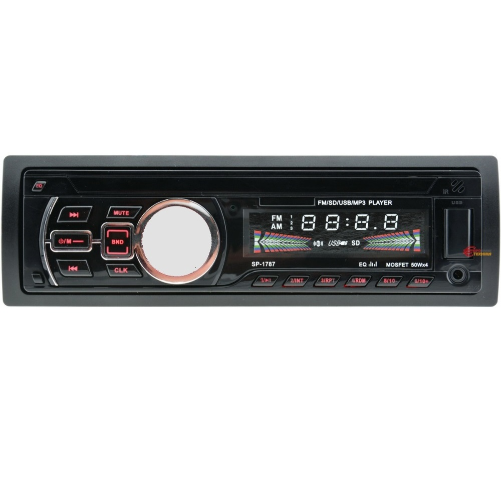 HiFi авто аудио 1787Е XPLD система MP3, FM, SD memory, USB, Bluetooth, 4x35W RMS