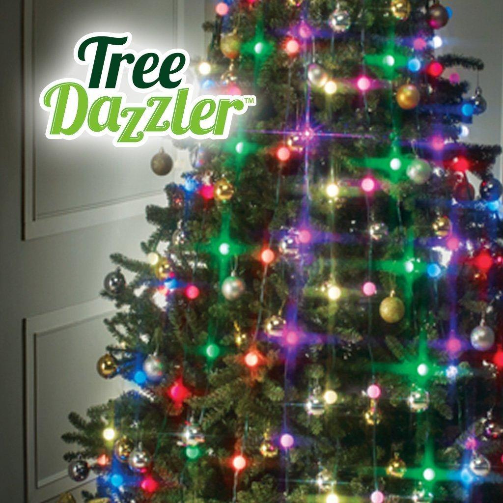Невероятни коледи LED лампички TREE DAZZLER, елхи до 2.3 м, 64 LED, 16 цвята