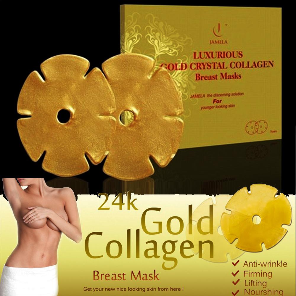 Колагенови златни маски с хиалурон за регенерация, лифтиране и стягане на бюст