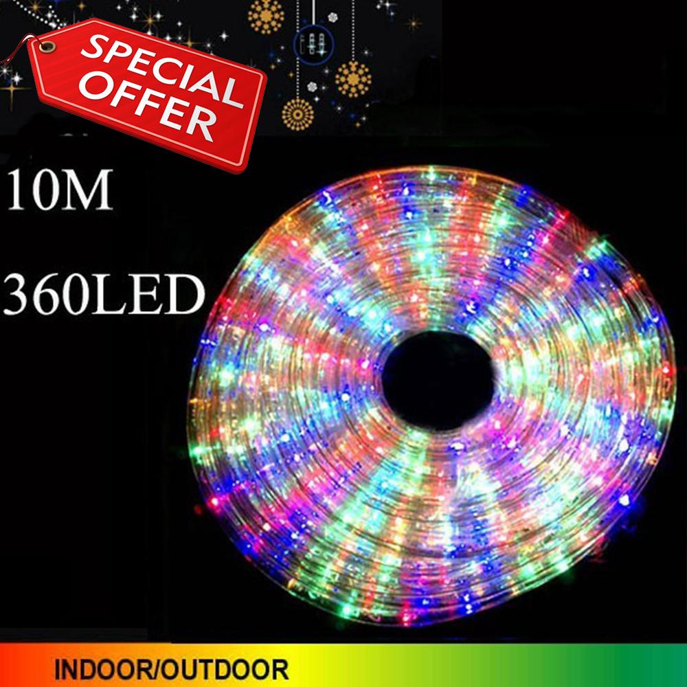 Многоцветен коледен LED маркуч  20W с контролер за 8 режима на светене за закрито/открито