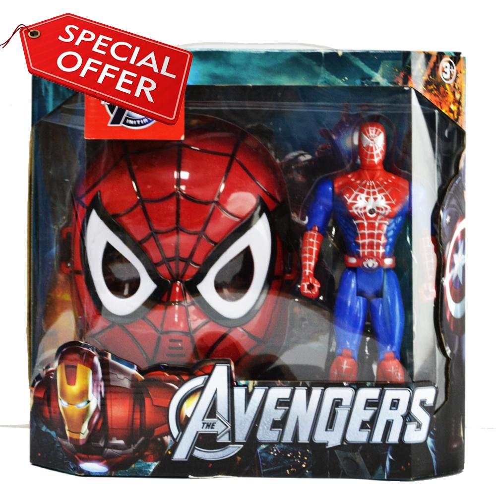 Първокласна светеща маска Спайдърмен + играчка
