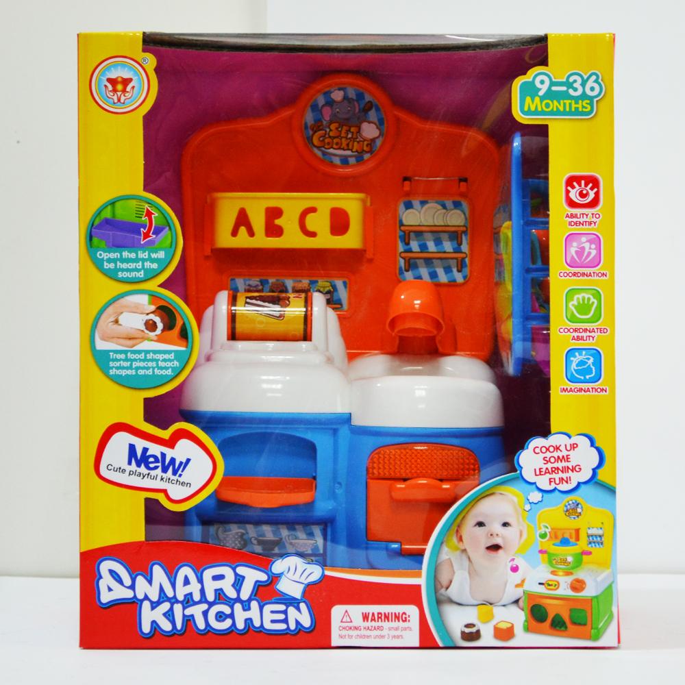 Атрактивна детска мини кухня SMART KITCHEN  D215, за деца  9- 36 м.