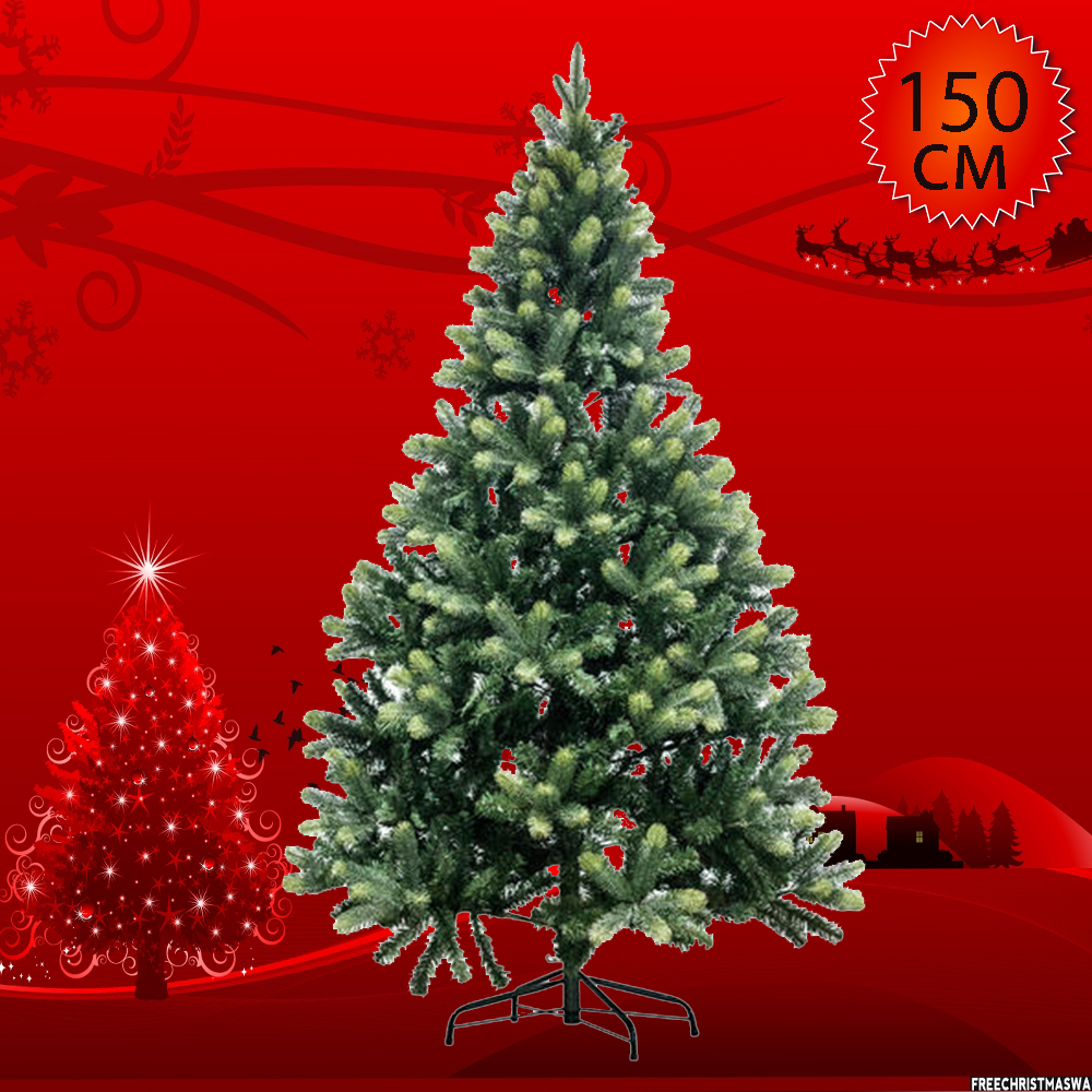 Луксозна коледна елха 1.50 м GREEN SNOW CHRISTMAS TREE- леко заскрежена с естествен вид