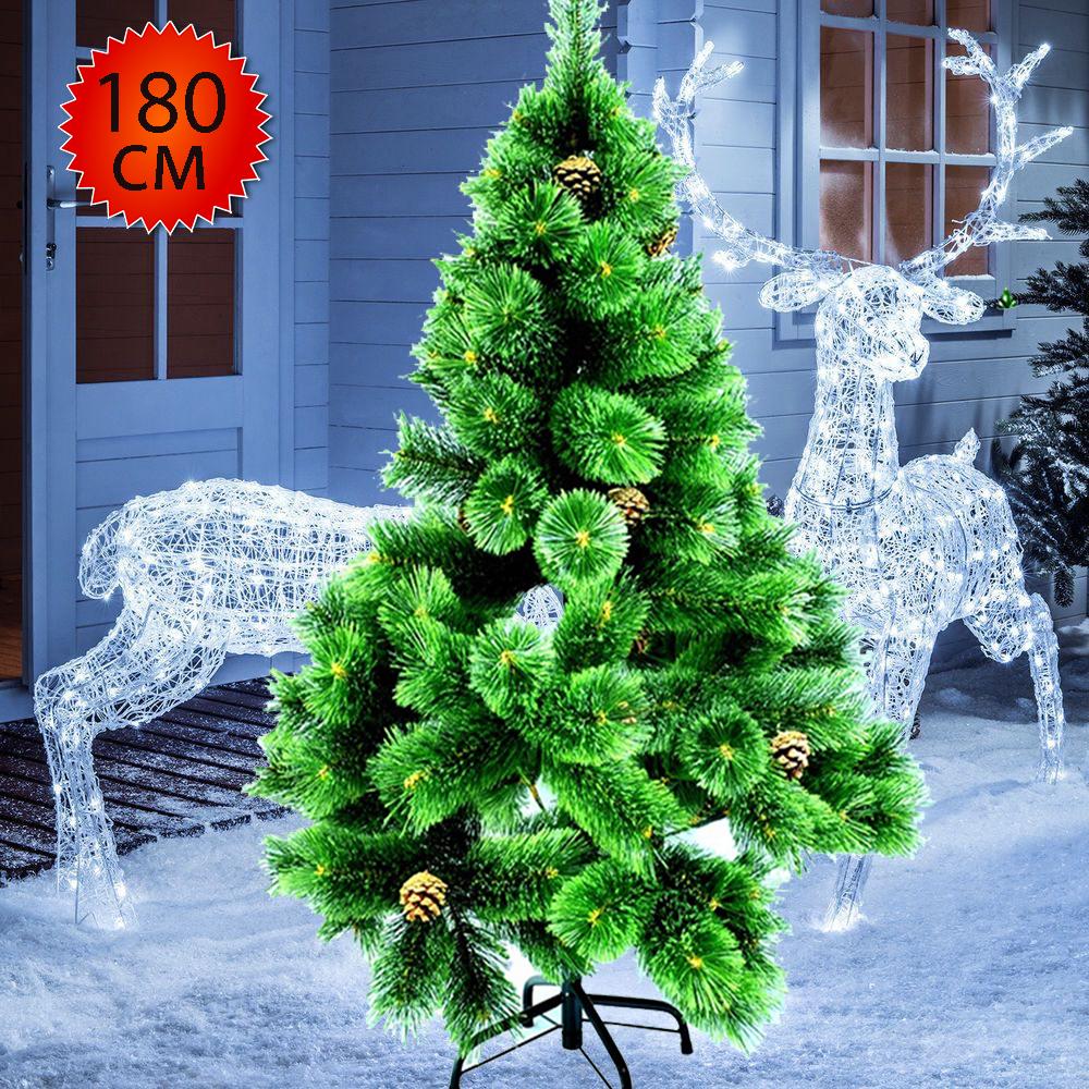 Лукс коледна елха с шишарки - височина 180 см. / № 9-256