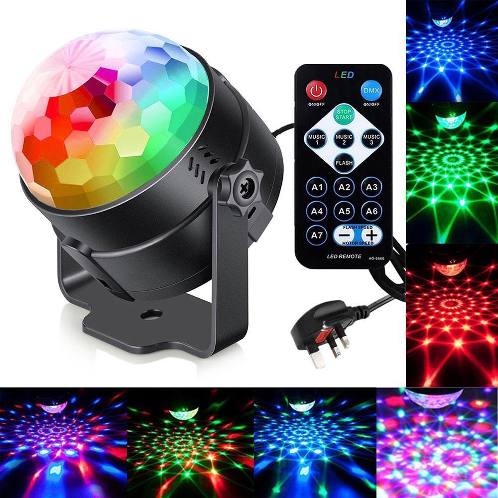 LED PARTY COMPACT - светлинно шоу в компактен размер и дистанционно, 3x1W, 6x1W, RM-PL-A