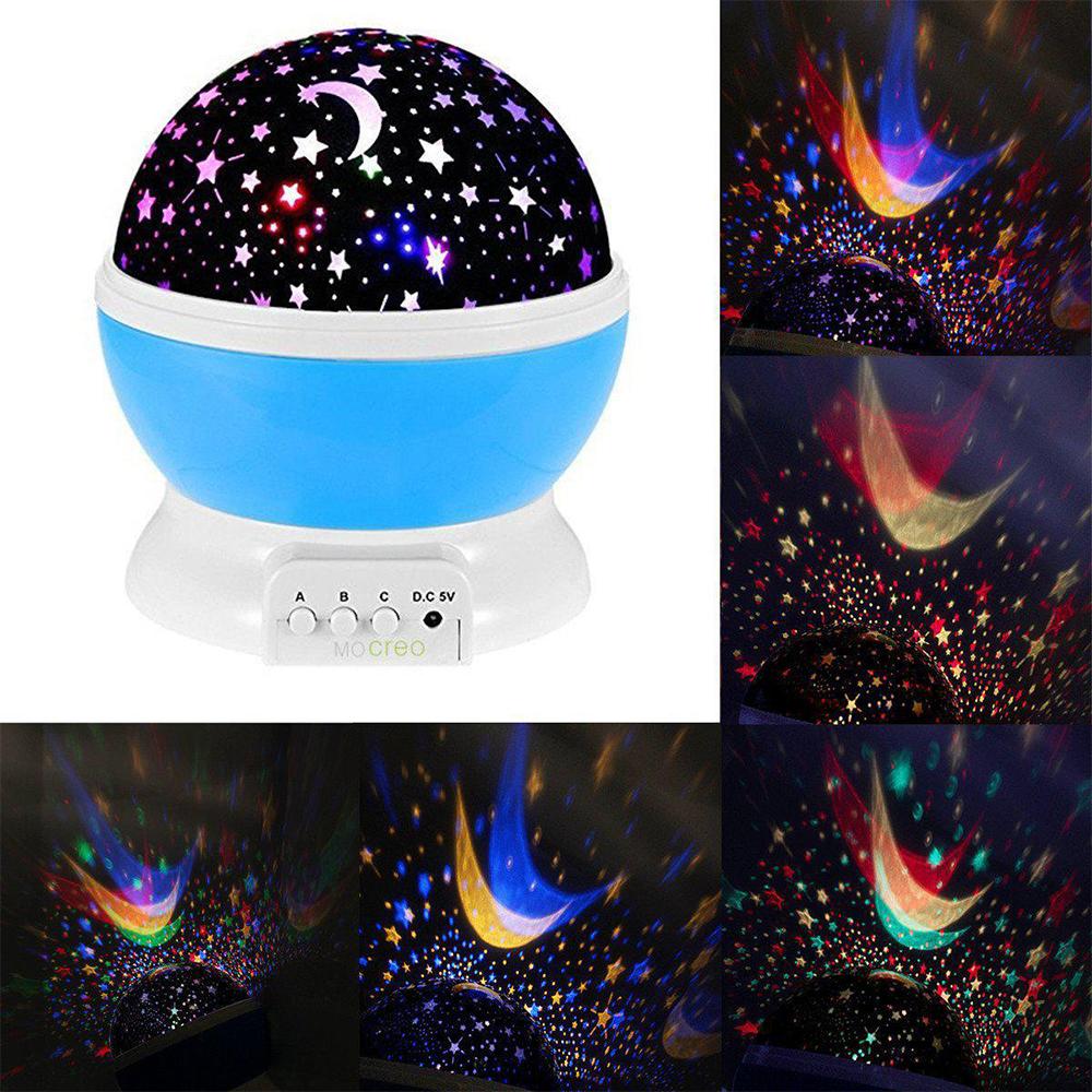 Нова детска астрономическа супер лампа STAR MASTER с въртящо се вълшебно зевздно небе