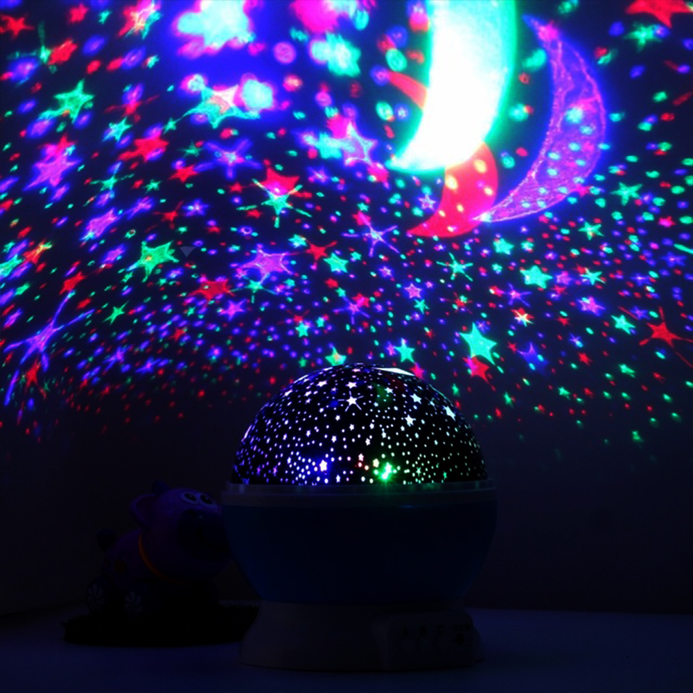 Нова детска астрономическа супер лампа STAR MASTER с въртящо се вълшебно зевздно небе,дждж