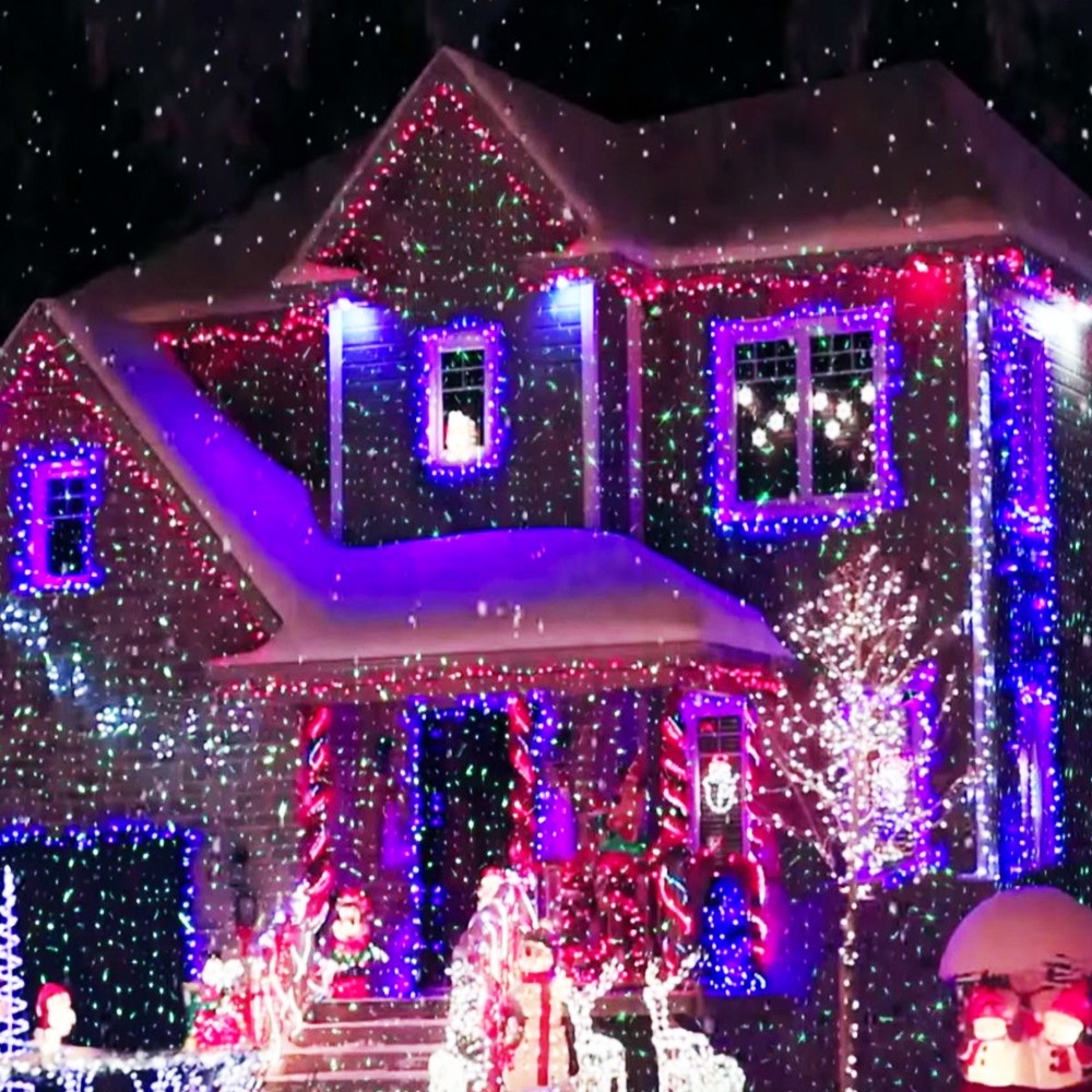 Лазерни светлини ЗВЕЗДЕН ДУШ -  обсипват къщата с движещи се звездни точки. За вътре и вън