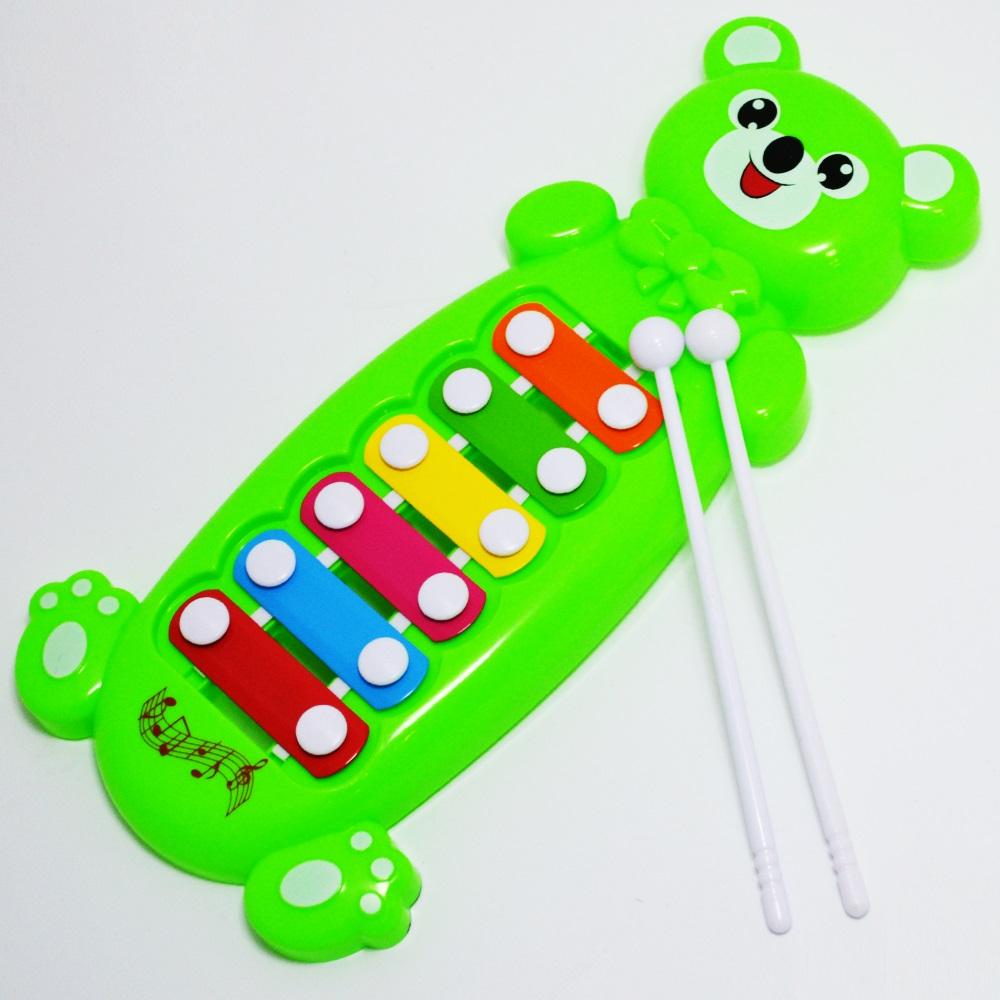 Атрактивен детски ксилофон с метални пластини, 2+