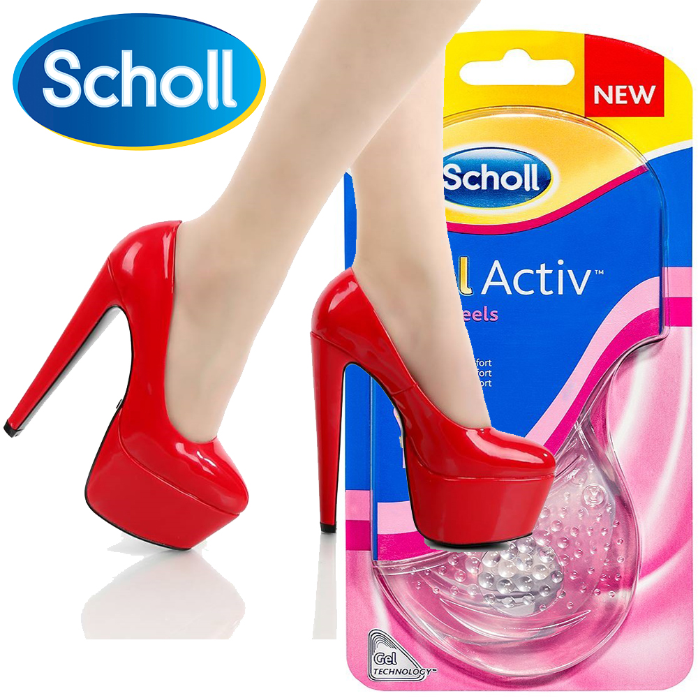 Силиконови стелки SCHOLL Activ Gel за комфорт при много високи токчета, 2 броя, 8225595