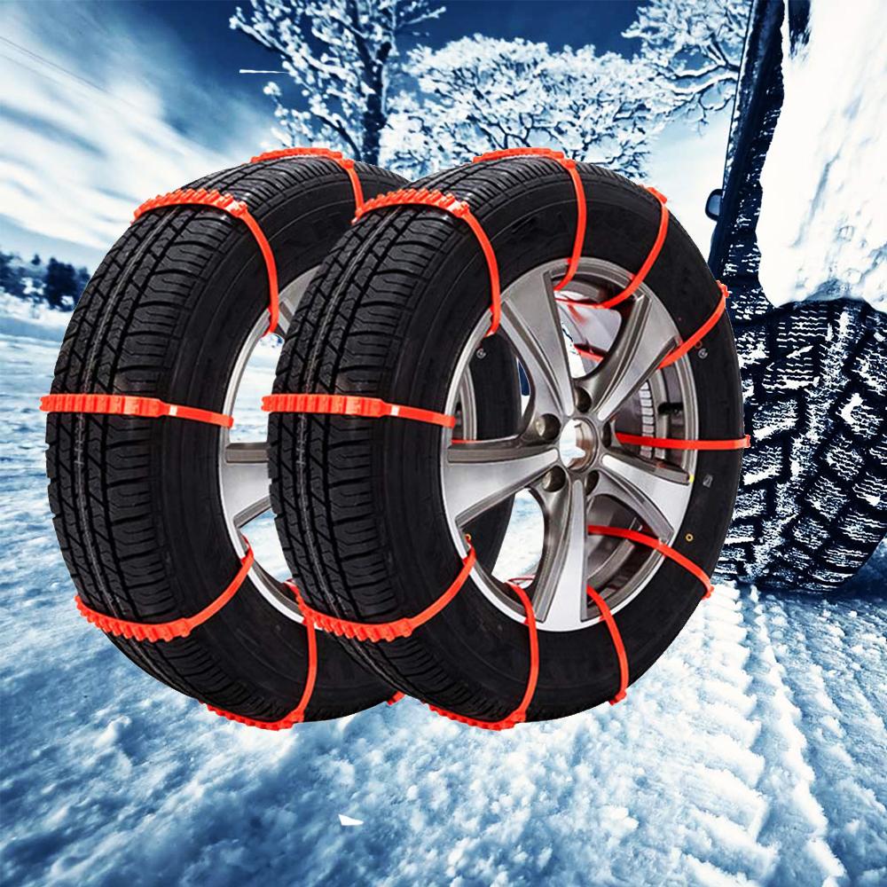 Бързи лесни, сигурни авто вериги за сняг - пластмасови, 10 бр. жълти ,многократна употреба