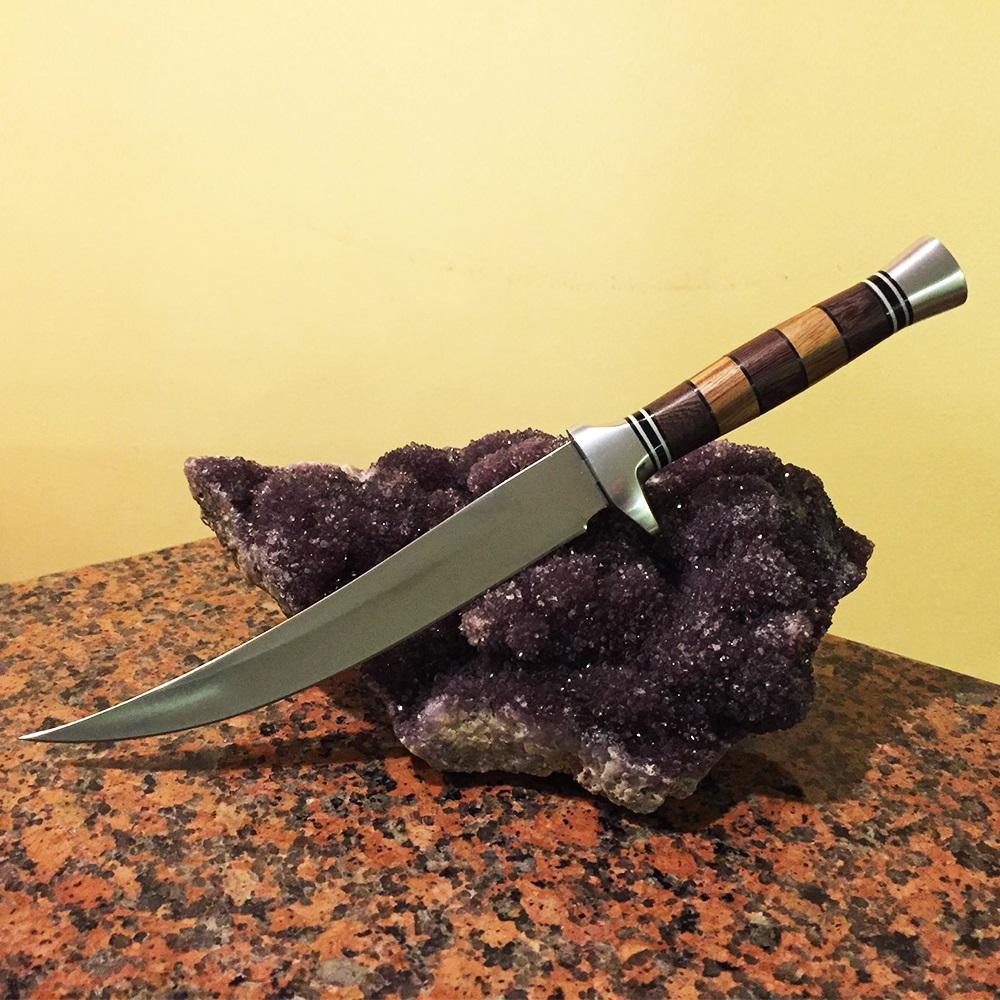 Красив персийски ловен нож ДАГА 903A,  с кания и обла дръжка
