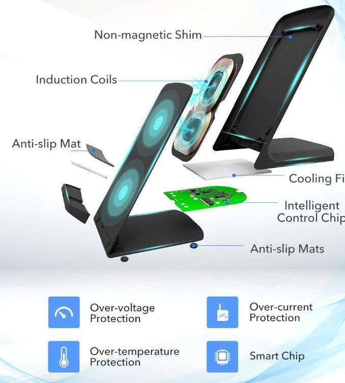 Уникално безжично зарядно FAST CHARGE, пести време, удължава живота на батерията