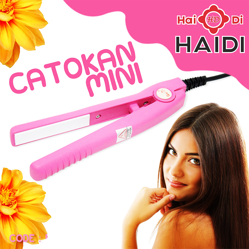 НЕВЕРОЯТНО!!! Компактна мини преса за коса с керамични плочи HAIDI 768 само за 8.90 лв