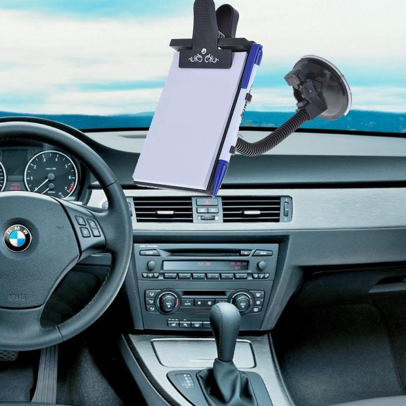 РАЗПРОДАЖБА:  комплект CAR MEMO PAD-  авто тефтер със стойка и химикал за воене на записки