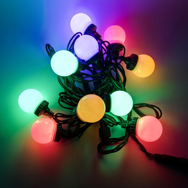 Професионалне немска LED украса 10 броя с дължина 11.5 м. за вътре, вън, 9 режима