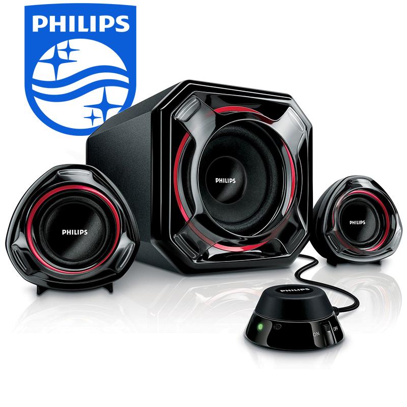 PHILIPS PSA 5300: мощна мултимедийна система тонколони за PC и домашно кино. Pmax 100W