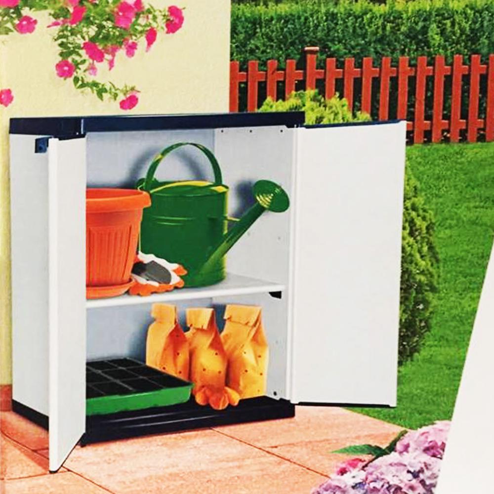 Немски PVC водоустойчив шкаф за градината, гаража, мокри помещения, мазета, складове и др.