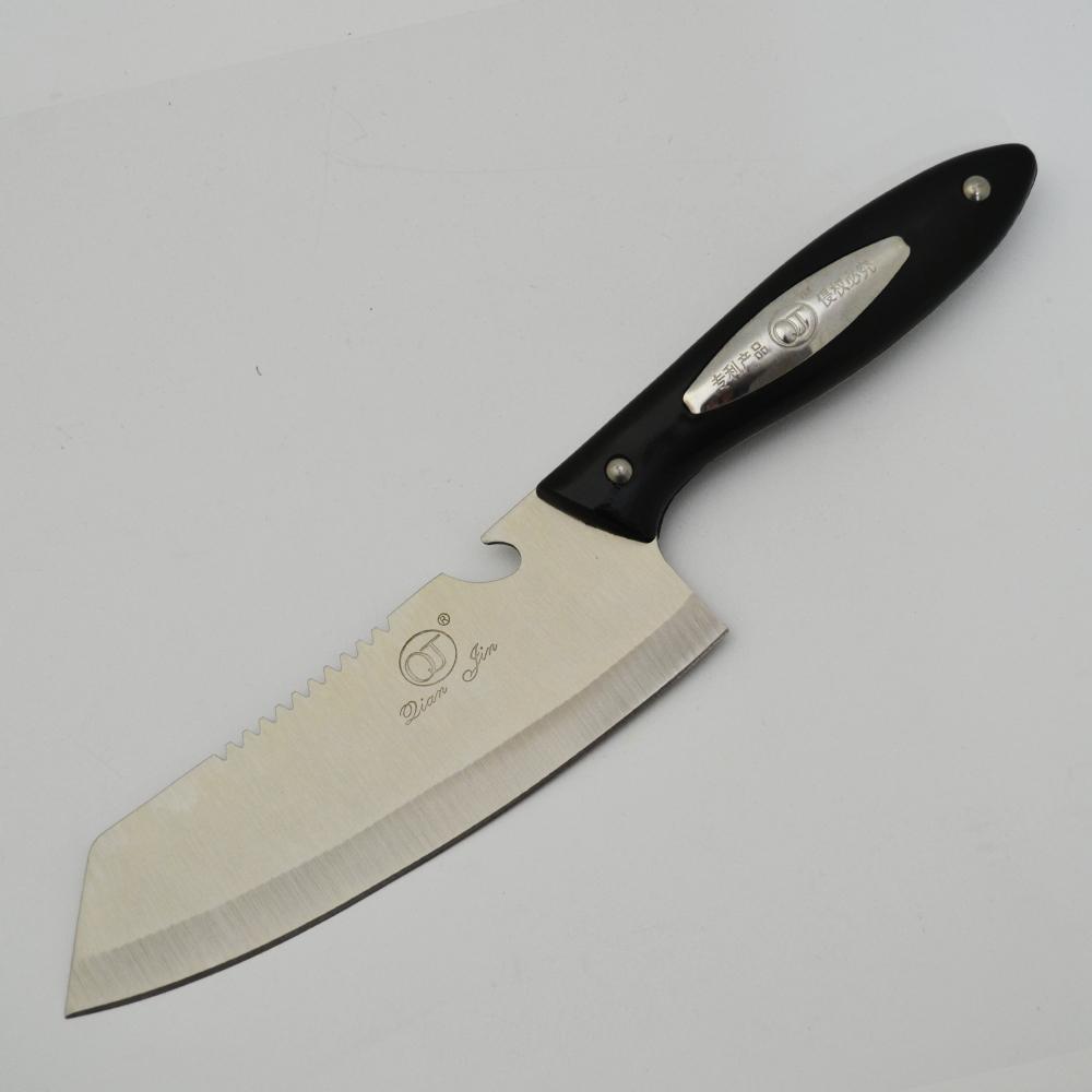 Много издръжлив голям кухненски нож Qian Jin NIKIRI Black B-13 на невероятна цена