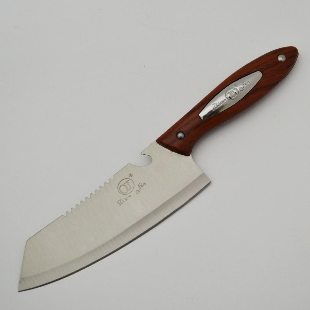 Много издръжлив голям кухненски нож Qian Jin NIKIRI BROWN на невероятна цена