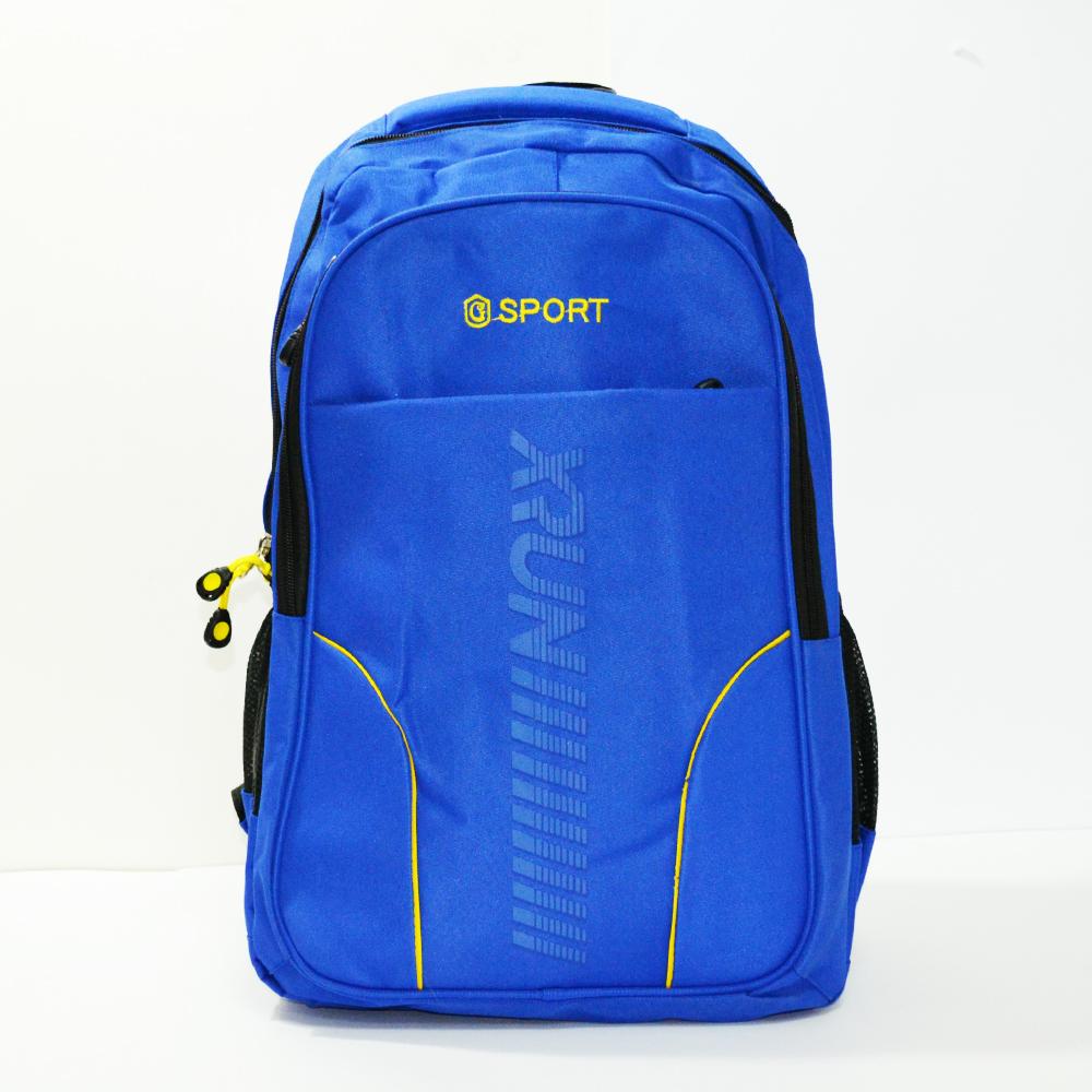 Изчистена раница с отделение за лаптоп XRUN SPORT 2149 BLUE за спорт, училище и туризъм