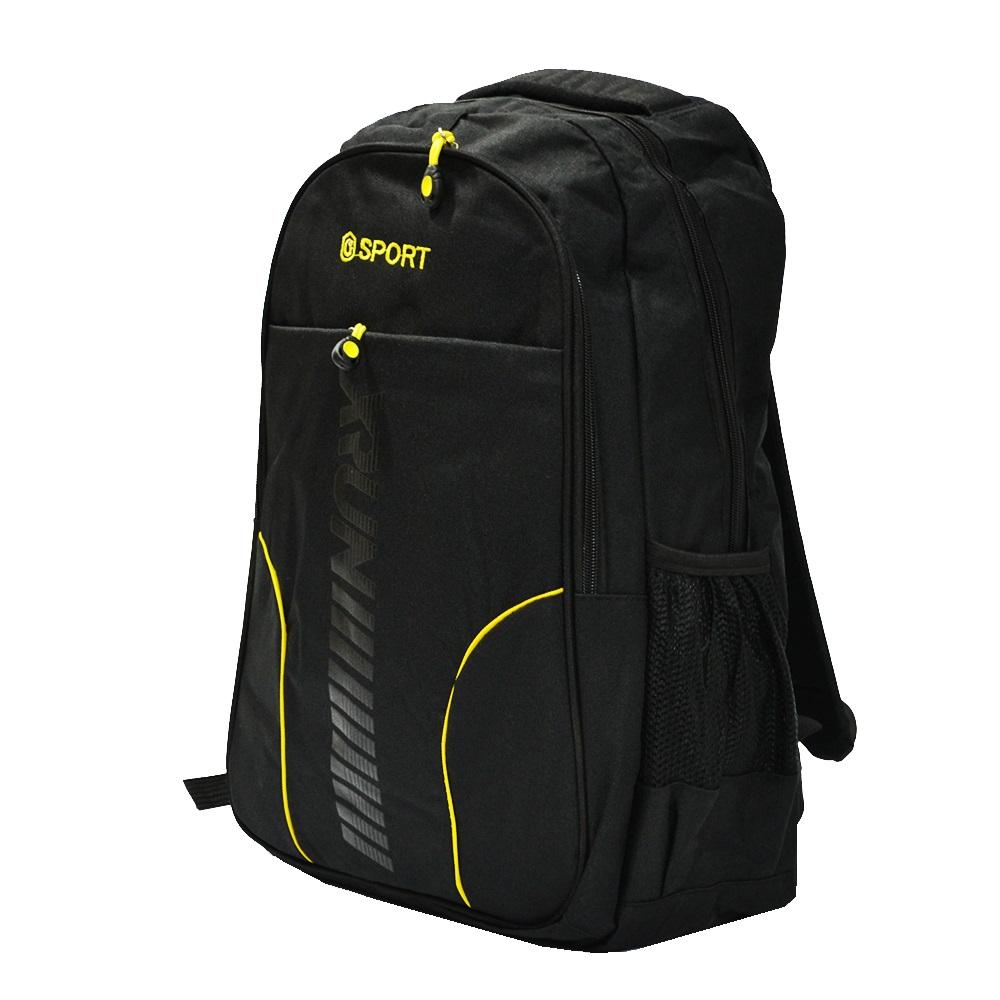 Изчистена раница с отделение за лаптоп XRUN SPORT 2149 BLACK за спорт, училище и туризъм