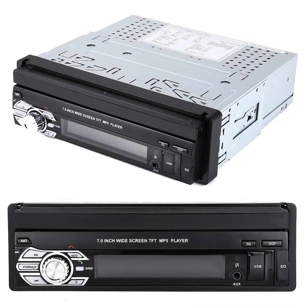 Мощна аудио - видео система 1 DIN ZT9601, прибиращ се с бутон дисплей, 4х50W, MP5, дждж