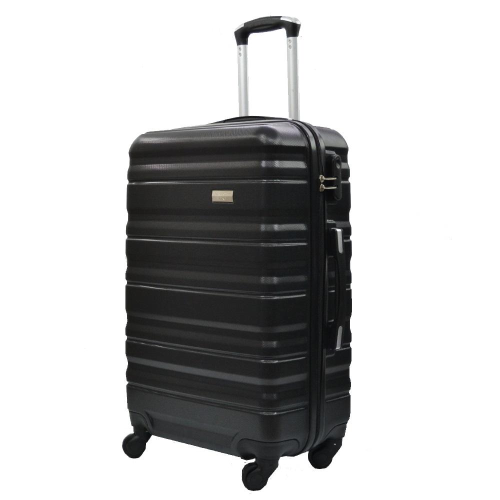 Комплект 3 броя ABS твърди и леки спинър-куфари PERFECT++ LINE 1253 BLACK