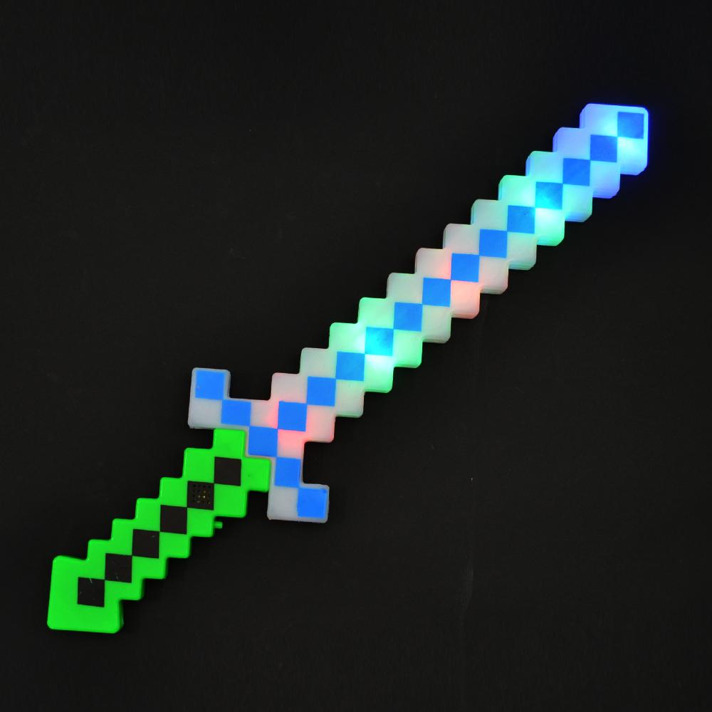 Майнкрафт меч, лек, със светлини и звук, 2+