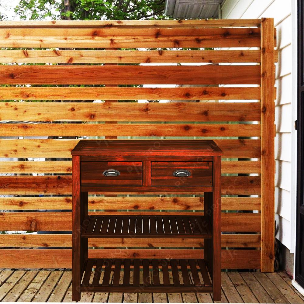 Френски градински шкаф  MIGROS TREVIZO GARDEN, първокласен масив, акация