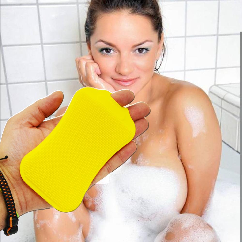 НОВО: антибактериална силиконова гъба за къпане и ексфолиране на лице и тяло