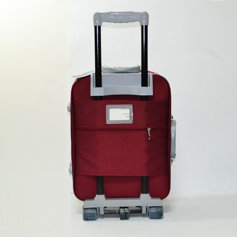 Разширяващ се куфар за ръчен багаж ТРАНЗИТ M701 RED, 3 колела, стоманено шаси, заключване