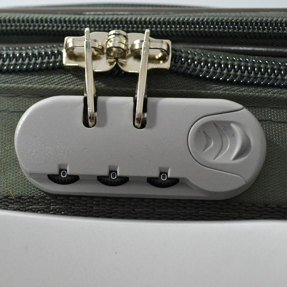 Разширяващ се куфар за ръчен багаж ТРАНЗИТ M701 GREEN, 3 колела, стоманено шаси,заключване