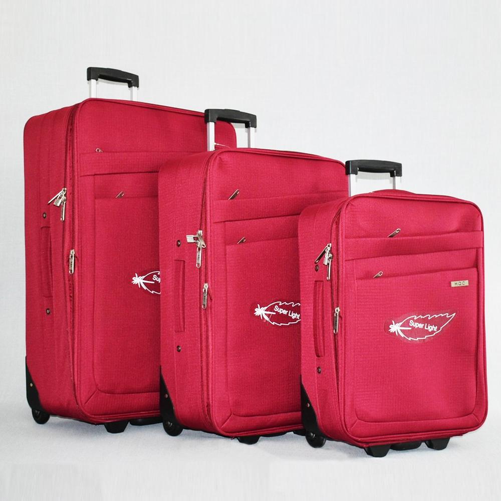 СУПЕР ПРОМО: комплект 3 авио куфара HQC 0042 RED CLASSIC до 5 см