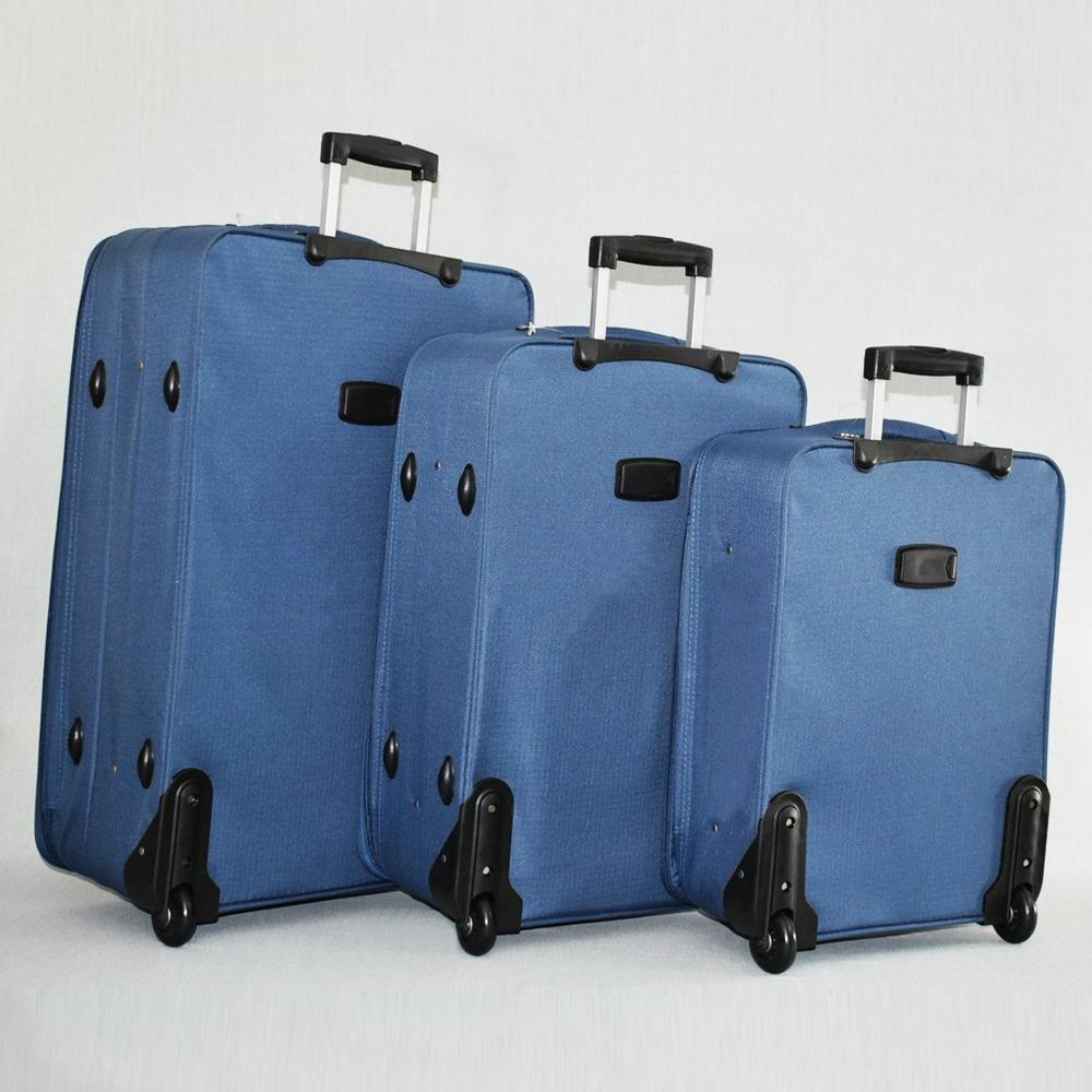 СУПЕР ПРОМО: комплект 3 авио куфара HQC 0042 LIGHT BLUE CLASSIC с разширение до 5 см