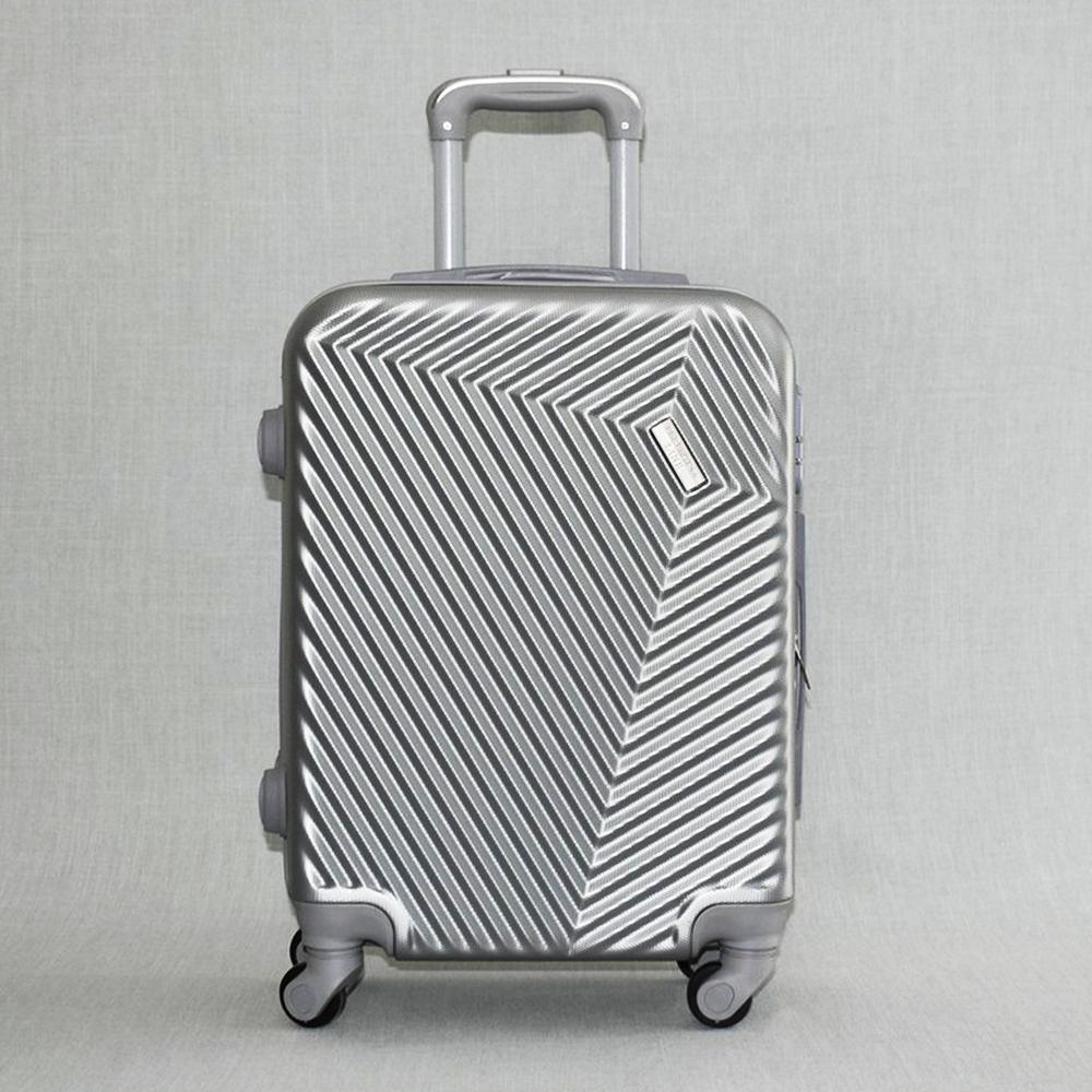 Твърд и лек авио спинър - куфар за ръчен багаж PL015 SILVER