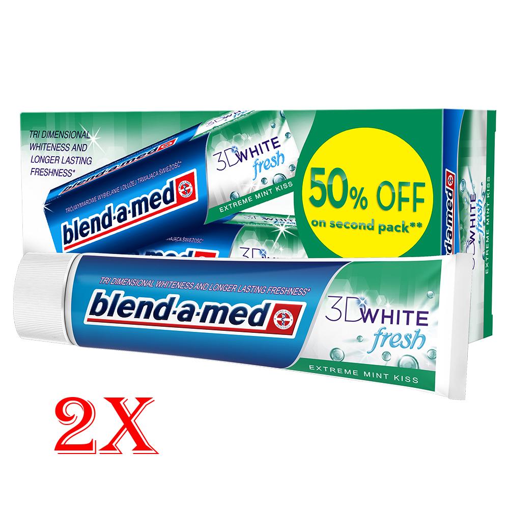 Две пасти за зъби Blend-a-med 3D, 2x100 ml.