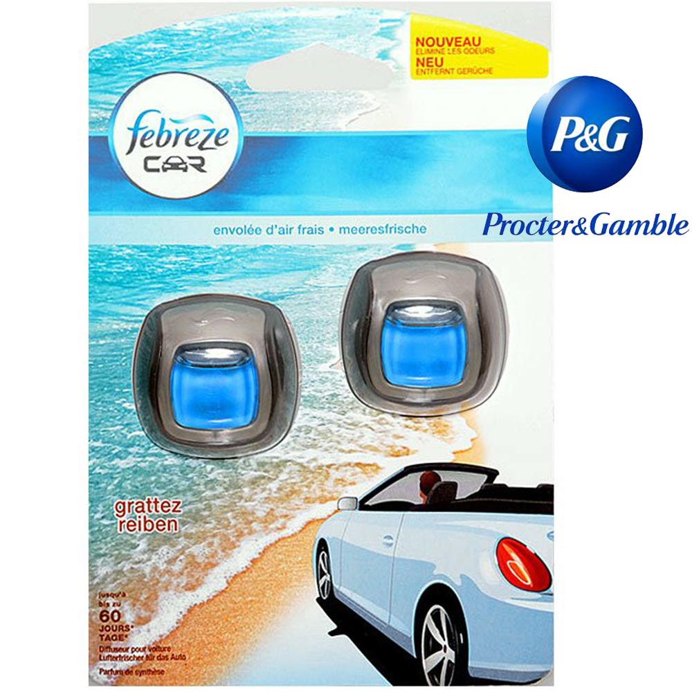 2 ароматизатора за автомобил Procter & Gamble FABREEZE OCYANUS MIST, 2x2 ml.