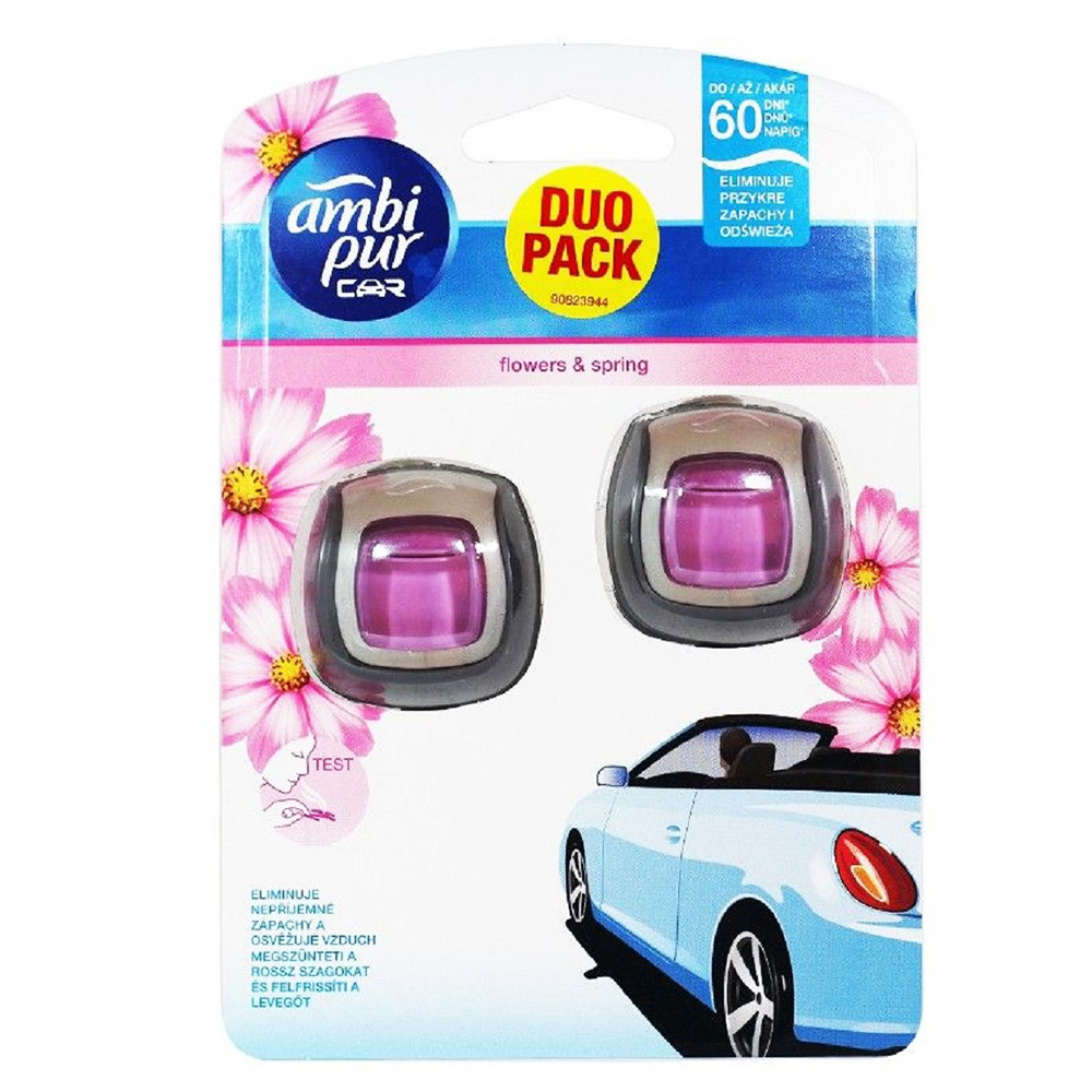 2 ароматизатора за автомобил AMBI PUR FLOWERS & SPRING