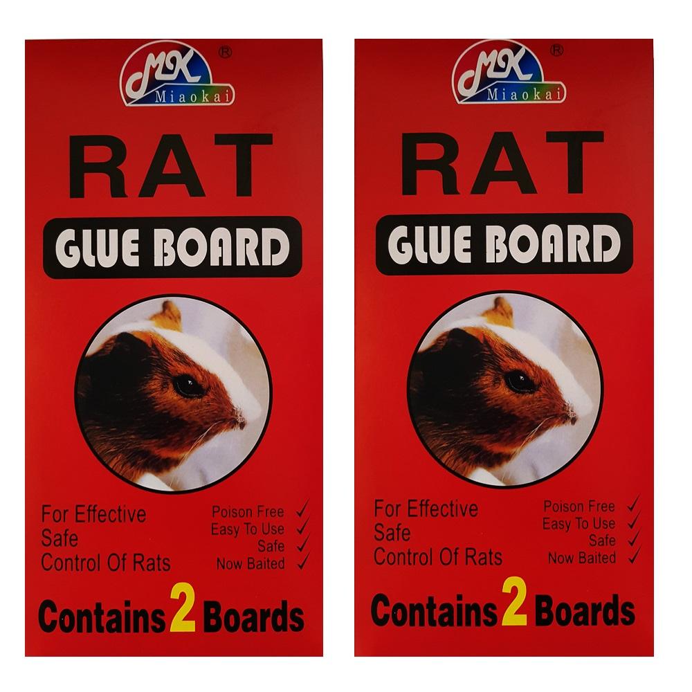2 броя лепкащи капани за плъхове RAT GLUE BOARD