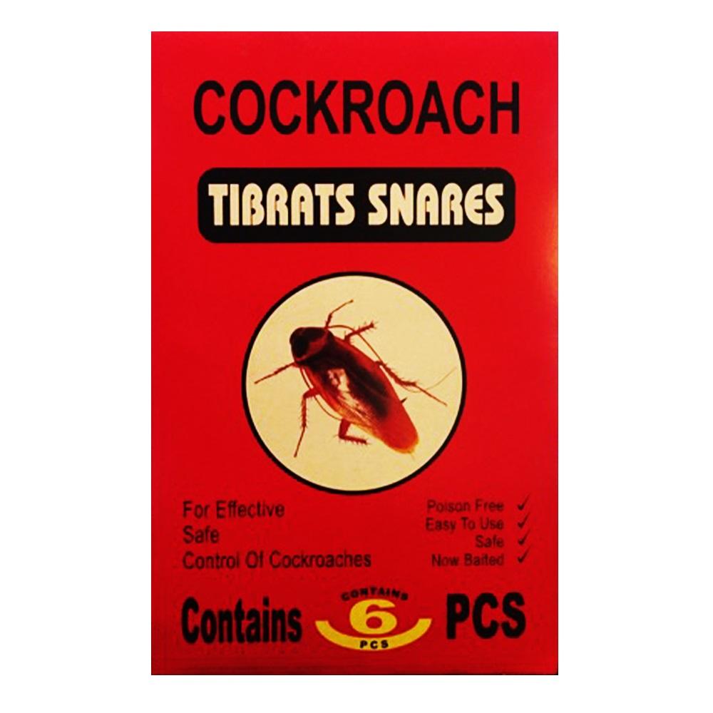 6 броя лепкащи капани за хлебарки COCKROACH TIBRATS SNARES