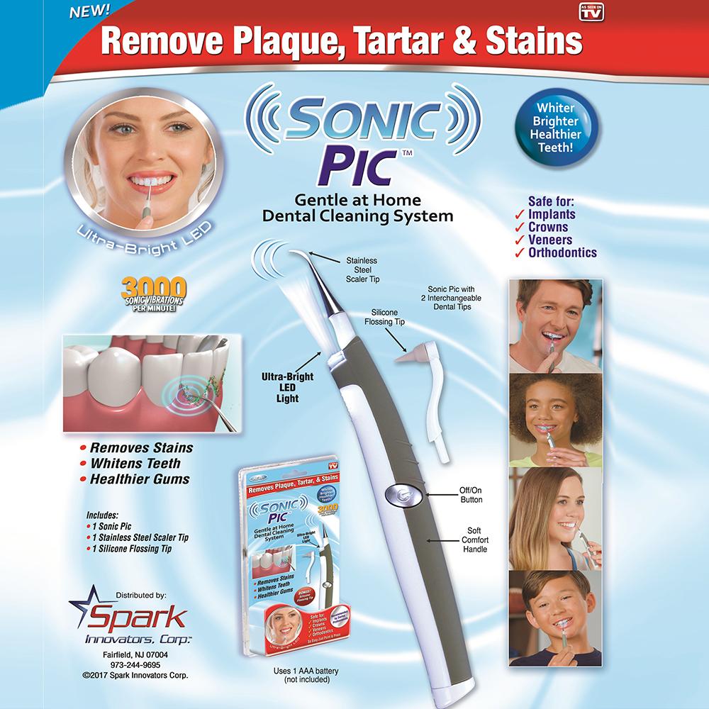 Професионален уред за почистване на петна, зъбен камък и полиране на зъбите SONIC PIC