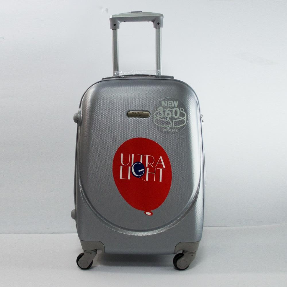 Разпродажба: ръчен куфар - спинър за ръчен багаж с разширение 1217 SILVER 360