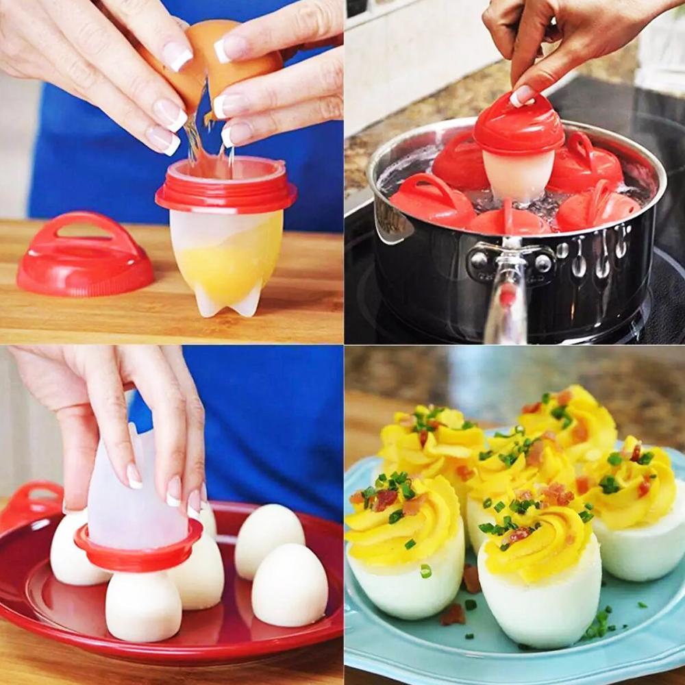 ЯЙЦАТА СА ВЕЧЕ ОБЕЛЕНИ!!! 6 уникални силиконови форми за варене на яйца