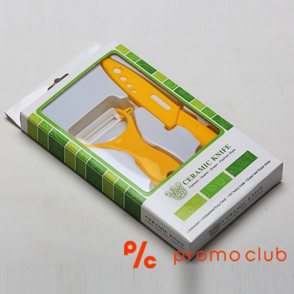 Комплект керамичен  EKO нож и белачка за плодове и зеленчуци ZIRC KNIFE