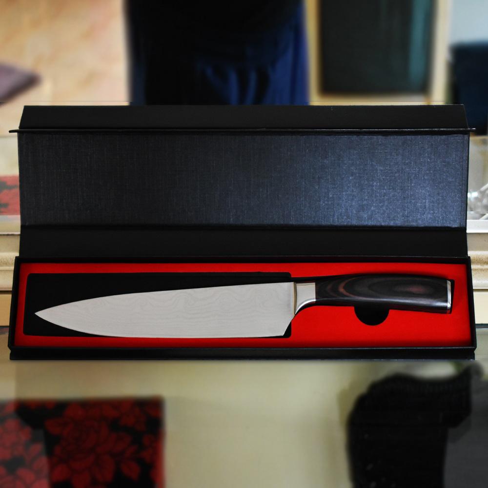BF SALE: Професионален кухненски нож HELMANN DAMASKUS Sheff's KNIFE DE LUX