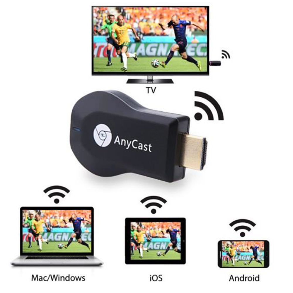 TOP Модел TV медия плейър AnyCast DONGLE двуядрен, 1.2GHz, DLNA, AirPlay, RAM 128Mb, дждж