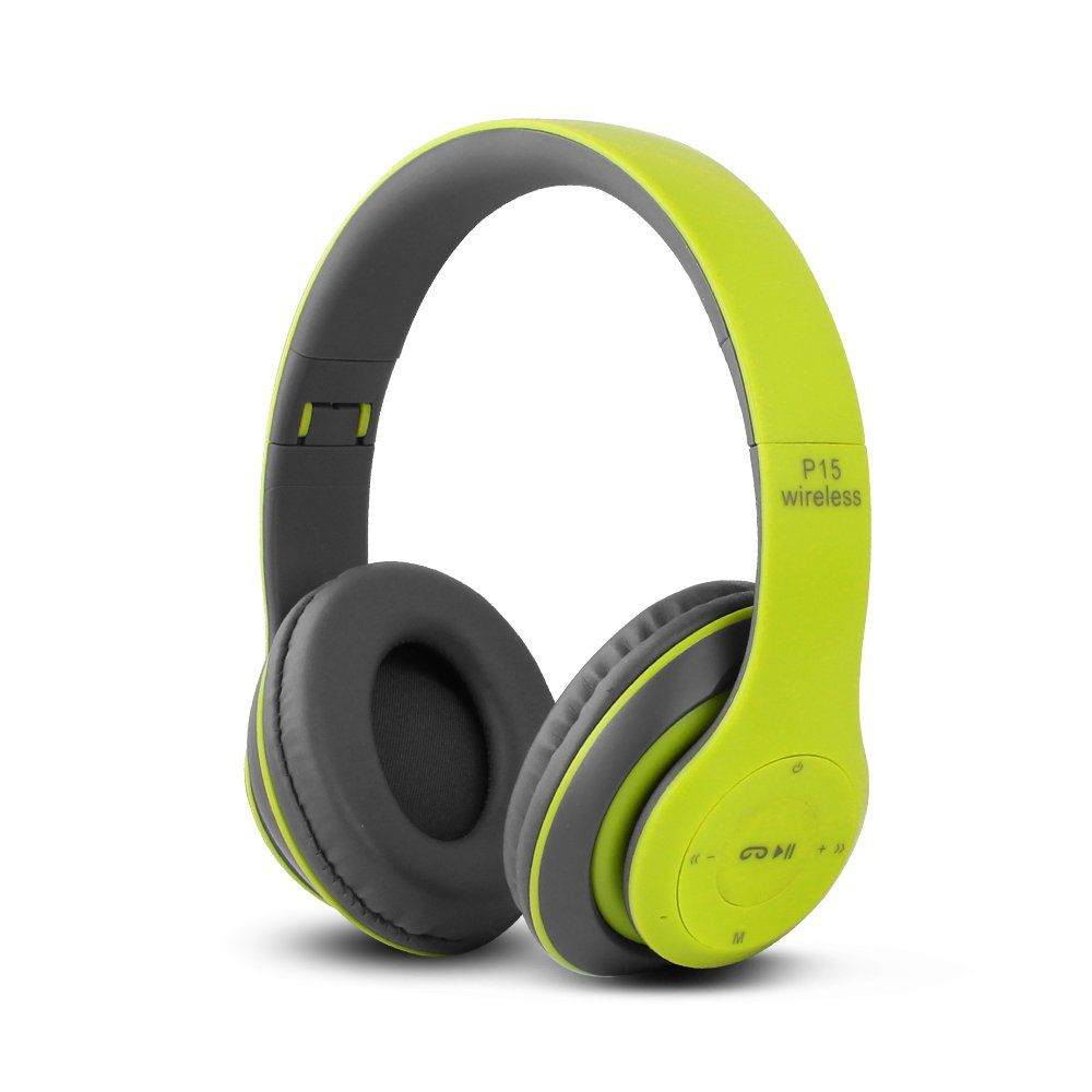 HiFi безжични слушалки P15 Wireless, Bluetooth, FM, MP3, SD memory, дждж